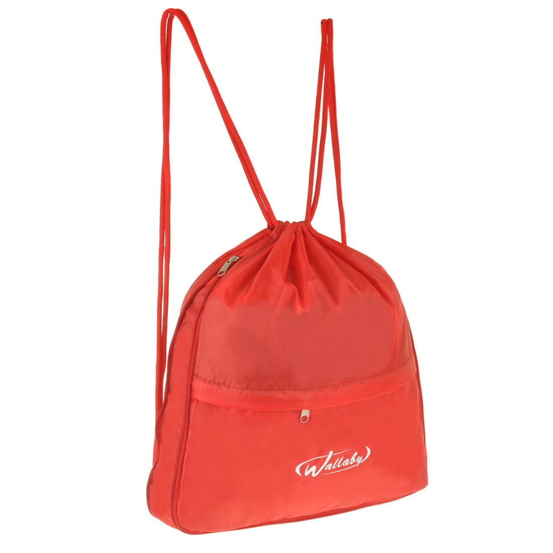 Рюкзак-котомка Wallaby красный 35х38х10  для обуви и сменки ткань нейлон  в 28272кр