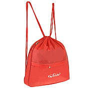 Рюкзак-котомка Wallaby красный 35х38х1  для обуви и сменки ткань нейлон  в 28272кр