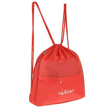 Рюкзак-котомка Wallaby красный 35х38х10  для обуви и сменки ткань нейлон  в 28272кр, фото 2