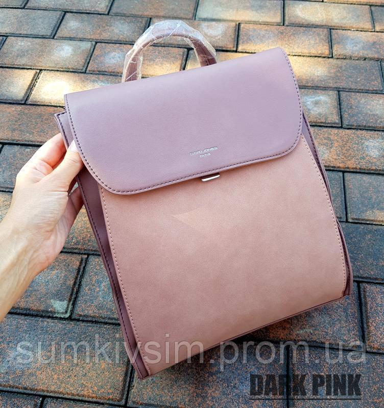 Рюкзак женский темно-розовый DAVID JONES 003