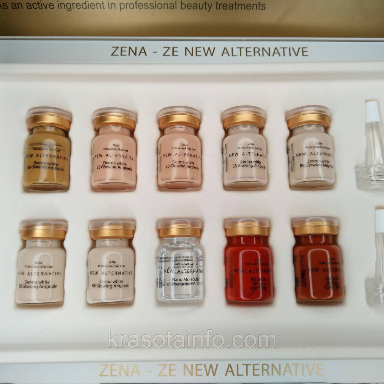 Набор концентратов для проведения процедуры ББ глоу тритмент +Тинты для губ и румян, Zena, 5 мл, 10 шт, 2 шт