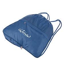 Рюкзак-котомка Wallaby ткань синий нейлон 35х38х10  для обуви и сменки   в 28272син, фото 3