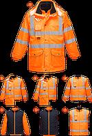 Светоотражающая куртка 7-в-1 для дорожных работ RIS RT27