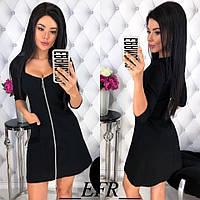 Платье на молнии / стрейч-джинс / Украина 50-423, фото 1