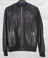"""Куртка чоловіча демісезонна KASIQI кожзам, розміри 48-58 """"JOKER"""" купити недорого від прямого постачальника"""