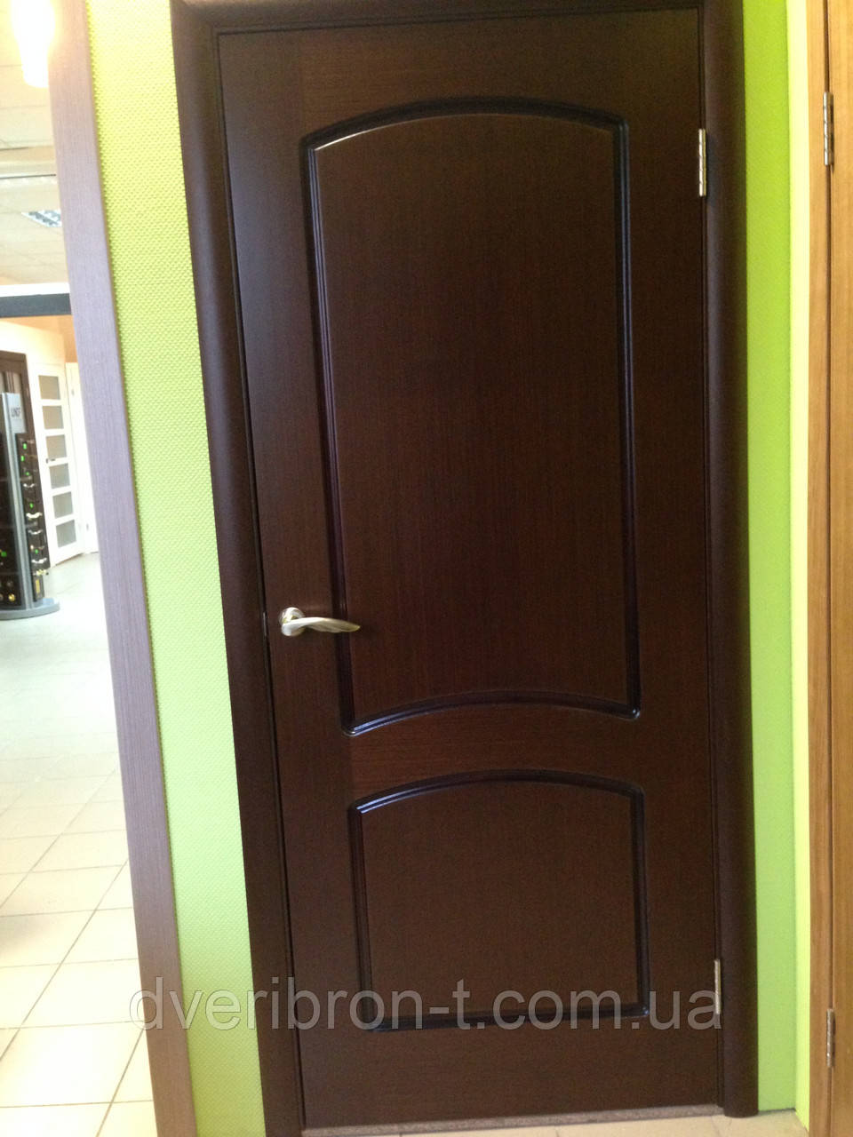 Двери Белоруссии Наполеон ПГ венге модерн:полотно 8 прав. +короб+ наличники на 1 стор.+защелка+петли