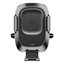 Автодержатель для телефона с беспроводной зарядкой Baseus Smart Vehicle Bracket WXZN-01 (Черный), фото 3