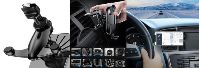 Автодержатель для телефона с беспроводной зарядкой Baseus Smart Vehicle Bracket WXZN-01 Черный