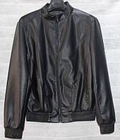 """Куртка чоловіча демісезонна Hestovrviio, кожзам, розміри L-4XL """"JOKER"""" купити недорого від прямого постачальника"""