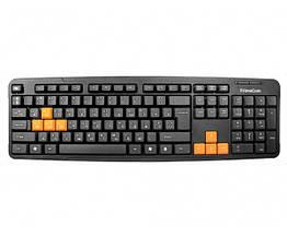 Клавіатура FrimeCom FC-838-USB, Черный/Orange