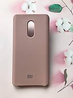 Силиконовый чехол Silicone Case для Xiaomi Redmi Note 4 / Note 4X Коричневый