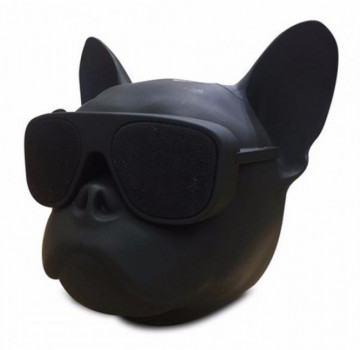Колонка беспроводная Dog PRO портативная Bluetooth голова Бульдог