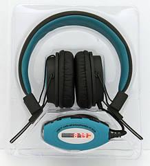 Наушники HQ-Tech AT-SD36 FM радио USB/TF/MicroSD MP3 плеейр эквалайзер LED дисплей