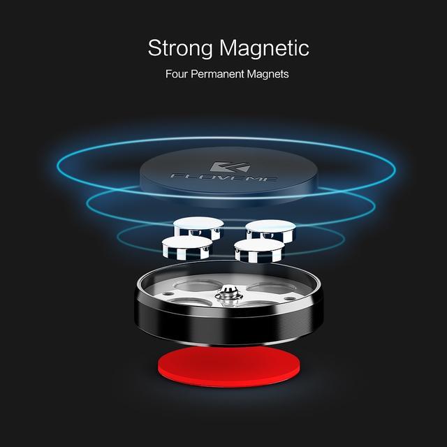 Универсальный автомобильный магнитный держатель для смартфона или навигатора Floveme Черный