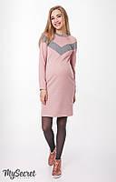 Теплое платье для кормящих мама и беременных Blando 272