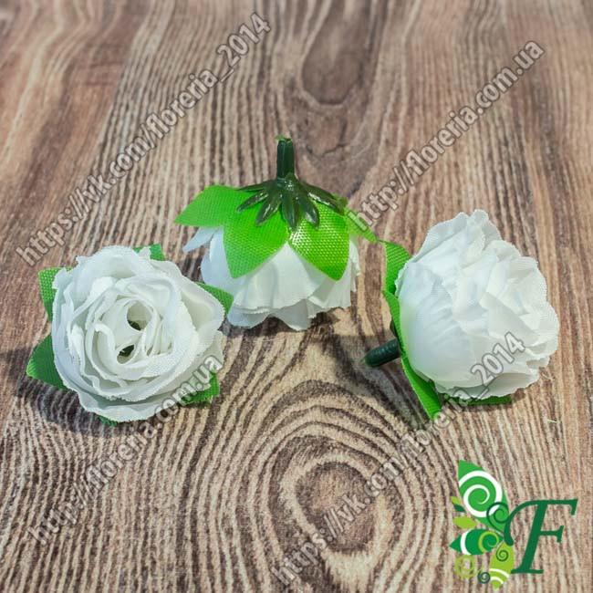 Головка розы D3 белый за 5 штук