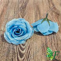 Головка чайной розы голубой
