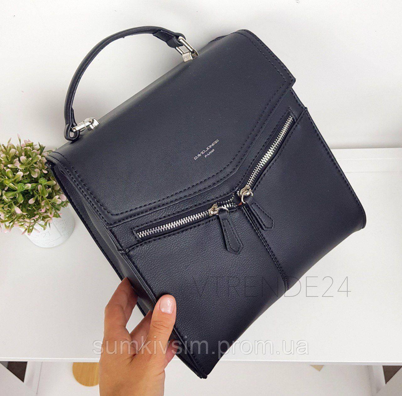 Рюкзак женский черного цвета DAVID JONES 012