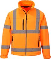 Светоотражающая куртка из софтшелла (3 сл) S424
