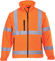 Светоотражающая куртка из софтшэлла (3 сл) S428