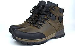 Зимние коричневые кожаные ботинки на овчине мужская обувь Rosso Avangard Lomerback 2 Military Leather