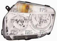 Фара передняя для Renault Duster '10- левая (DEPO) хромированный отражатель под электрокорректор