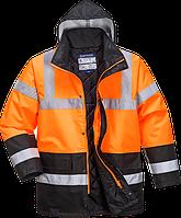 Двухцветная светоотражающая дорожная куртка  S467