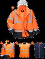 Светоотражающая контрастная дорожная куртка 4-в-1 S471
