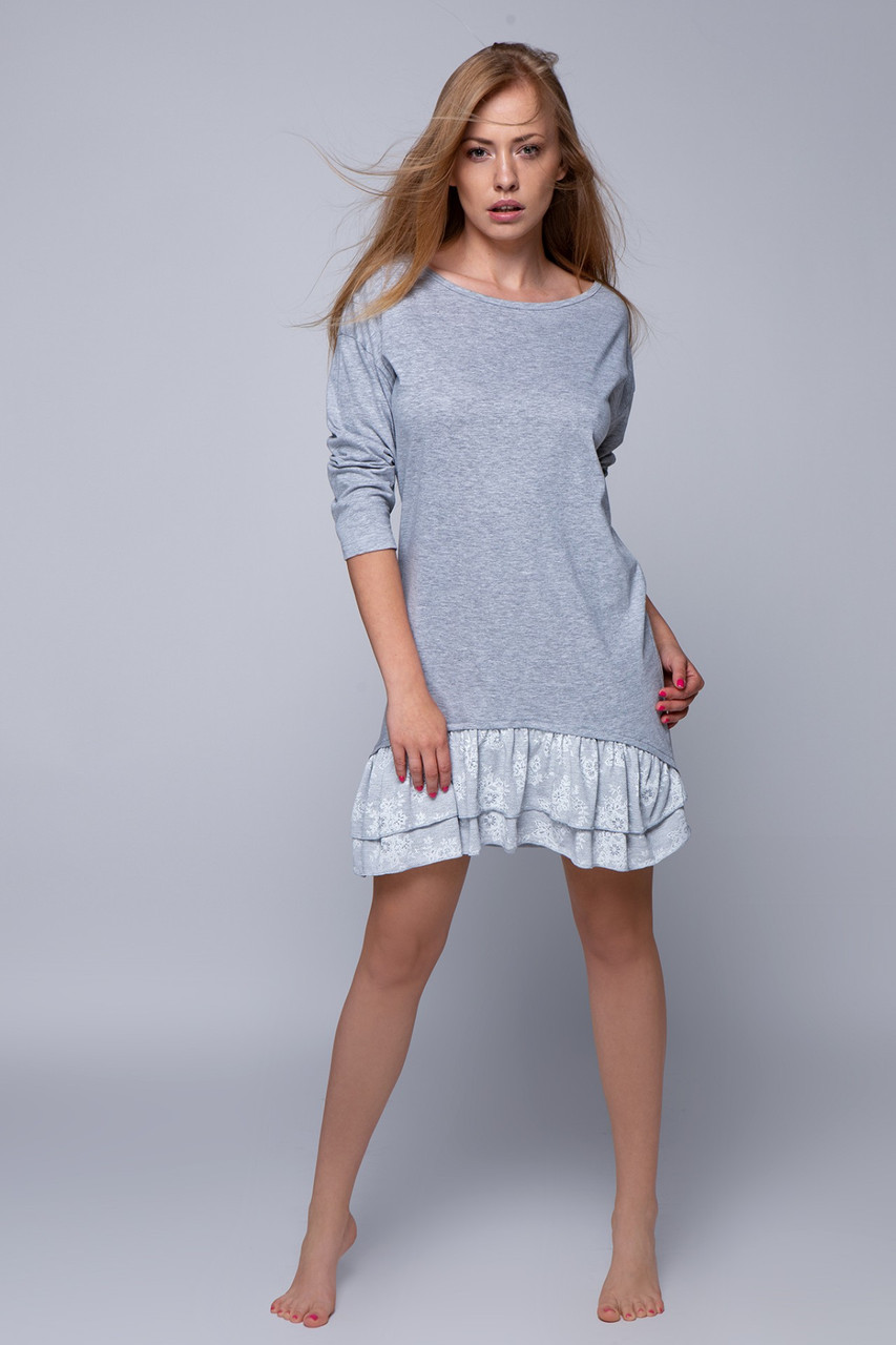 Сорочка  Sensis Natali серый