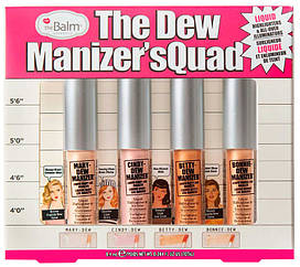 Набор жидких хайлайтеров theBalm The Dew Manizer's Quad-Mini Liquid Highlighters, 4 шт. (4х8.4 мл)