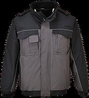 Двухцветная куртка бомбер S561