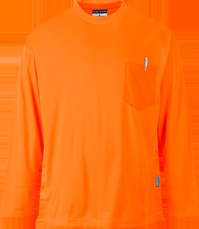 Футболка Day-Vis с длинными рукавами и карманом  S579