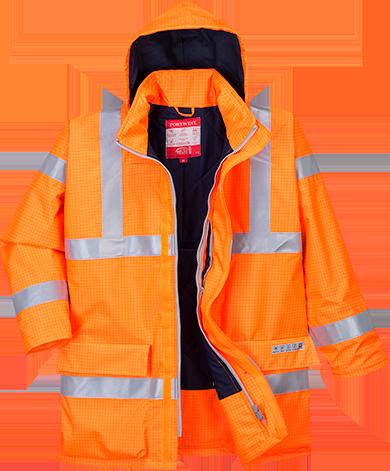 Антистатическая водонепроницаемая светоотражающая огнестойкая куртка Bizflame S778