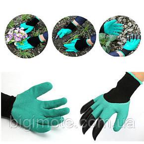 Садовые перчатки Garden Genie Gloves, перчатки с когтями для огорода, фото 2