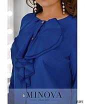 Элегантная женская блуза с жабо  с 50 по 62 размер, фото 2