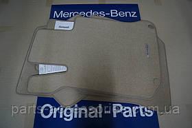 Mercedes C W204 велюрові килимки бежеві передні задні нові оригінал