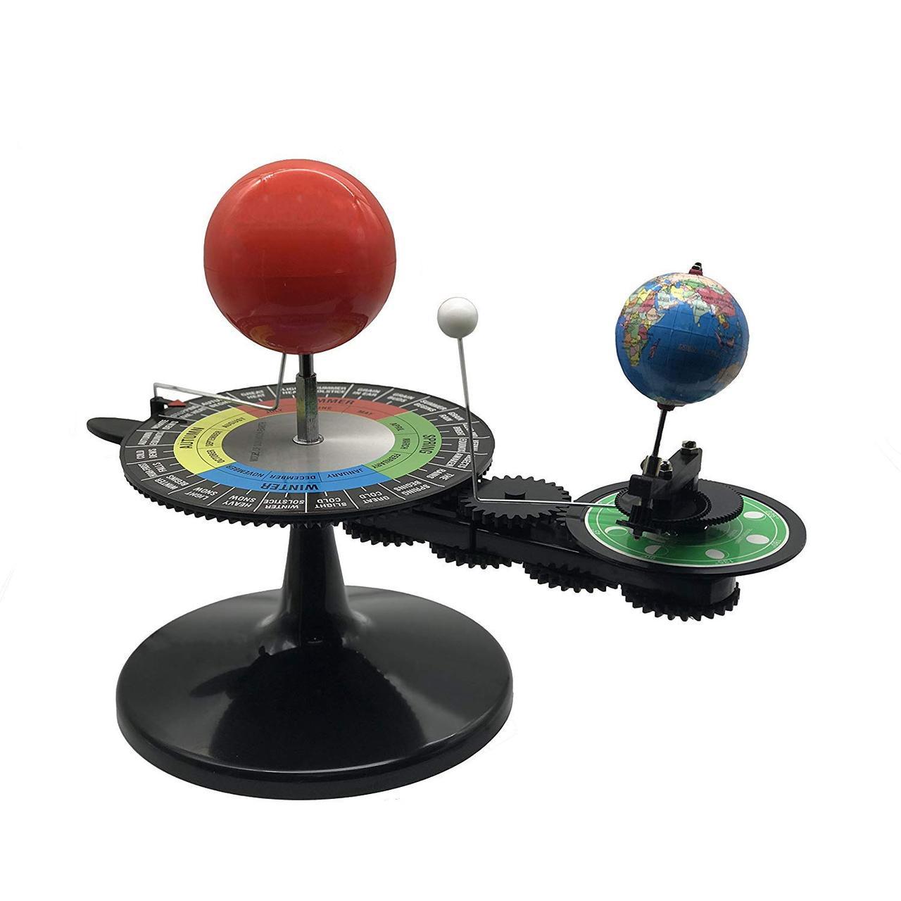 """Теллурий """"Солнечная система. Солнце, луна, Земля"""" (англ. язык)"""