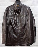 """Куртка чоловіча демісезонна RHENOCEROS кожзам, розміри 46-58 """"JOKER"""" купити недорого від прямого постачальника"""