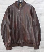 """Куртка чоловіча батальна DIKAIQUNHAO кожзам, розміри 7XL-12XL """"JOKER"""" купити недорого від прямого постачальника"""