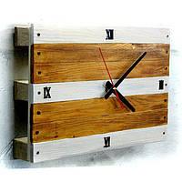 Часы настенные Seven Seasons™ Pallet, бело-коричневые 28*42 см (HD-1910-3)