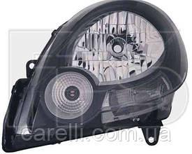 Фара передняя для Renault Kangoo '09- правая (DEPO) черный отражатель под электрокорректор