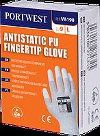 Антистатические перчатки с ПУ покрытием кончиков пальцев для торговых автоматов VA198