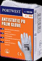 Антистатические перчатки с ПУ покрытием ладони для торговых автоматов VA199