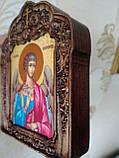 Ангел Хранитель в резном киоте с золочением (лики на выбор заказчика), фото 2