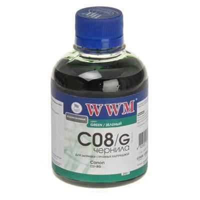 Чернила WWM CANON CLI-8Green (C08/G)