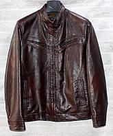 """Куртка чоловіча коротка RHENOCEROS кожзам, розміри 48-58 """"JOKER"""" купити недорого від прямого постачальника"""
