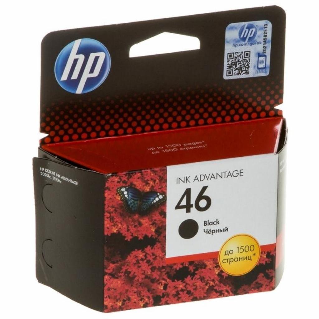 Картридж HP DJ No. 46 Ultra Ink Advantage Black (CZ637AE)