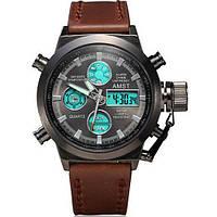 Часы мужские AMST AM3003 оригинал, коричневый ремень