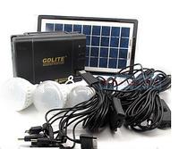 Портативные батареи GDLITE GD-8017 (солнечная батарея, 3 светодиодными батареями