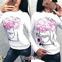 Кофточка блузка бомпер свитшот туника толстовка с принтом
